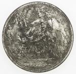 CHOPMARKED COINS: UNITED STATES: AR trade dollar, 1875-S, Liberty seated type, with many large Chine