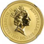 AUSTRALIA. 100 Dollars, 1990. NGC MS-69.