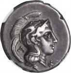ITALY. Lucania. Velia (Hyele, Elea). AR Didrachm (7.79 gms), ca. 300-280 B.C. NGC Ch VF, Strike: 5/5