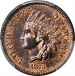 1873 Indian Cent. Close 3. MS-65 RB (PCGS).