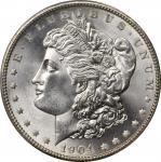 1904 Morgan Silver Dollar. MS-66 (PCGS).