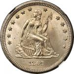 1865-S Liberty Seated Quarter. Briggs 1-A, the only known dies. MS-67 (NGC).