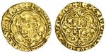 Richard II (1377-99), Quarter-Noble, type 1a, 1.50g, mm. cross patt馥, ricard dei gra rex angl, doubl