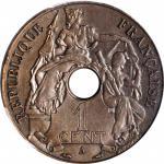 1908-A年法属印度支那百分之一试作加厚样币巴黎造币厂 FRENCH INDO-CHINA. Bronze Matte Piefort Cent Essai (Pattern), 1908-A. P