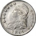 1814 Capped Bust Half Dollar. O-108a. Rarity-1. E/A in STATES. EF-45 (PCGS).