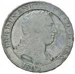 Italian coins;NAPOLI Ferdinando IV (1759-1816) Piastra 1805 - Magliocca 392 AG (g 27.39)  - qBB;100