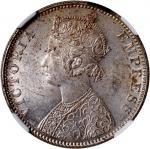 1900-B印度卢比银币,NGC MS62