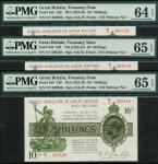 Treasury Series, Norman Fenwick Warren-Fisher (1919-1928), second issue, 10 shillings (3), ND (6 Nov