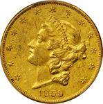 1859-O Liberty Head Double Eagle. AU-53 (PCGS).