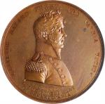 1813 (Post-1880) Master Commandant Oliver H. Perry / Battle of Lake Erie Naval Medal. Bronzed Copper