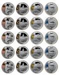 2008年第29届奥林匹克运动会(第3组)纪念彩色银币1盎司共5套 完未流通