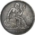 1836 Gobrecht Silver Dollar. Name on Base. Original. Judd-60, Pollock-65. Rarity-1. Dannreuther Reve
