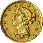 1852-D Liberty Head Half Eagle. EF-45 (PCGS).