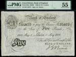 Bank of England, John Nairne (1902-1918), 5, London, 1 May 1908, serial number B/4 85877, black and