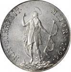 ITALY. Genoa. 8 Lire, 1796. PCGS MS-64 Gold Shield.
