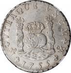 1755-Mo MM年墨西哥壹圆银币。墨西哥城造币厂,费迪南德六世。MEXICO. 8 Reales, 1755-Mo MM. Mexico City Mint. Ferdinand VI. NGC