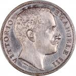 1906-R意大利2里拉银币,PCGS AU Detail,有清洗