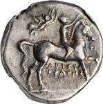 ITALY. Calabria. Tarentum. AR Nomos (6.46 gms), ca. 272-240 B.C. NGC Ch VF, Strike: 4/5 Surface: 4/5