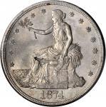 1874-S Trade Dollar--Chopmark--MS-62 (PCGS).
