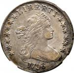 1798 Draped Bust Silver Dollar. BB-119, B-29. Rarity-4. Pointed 9, Close Date. EF Details--Improperl