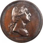 1776 (1790) Washington Before Boston Medal. Original. Bronze. 68.9 mm. Baker-47B, Julian MI-1. Rarit