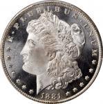1881-CC Morgan Silver Dollar. MS-67 PL (PCGS).