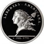 1781 (2004) Libertas Americana Medal. Modern Paris Mint Dies. Silver. 40 mm. 24 grams. .999 fine. Pr