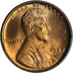 1927 Lincoln Cent. MS-66 RD (PCGS).