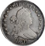 1807 Draped Bust Half Dollar. O-102, T-8. Rarity-2. EF Details--Cleaned (NGC).