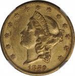 1859-S Liberty Head Double Eagle. EF-45 (NGC).