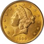 1899-S Liberty Head Double Eagle. MS-62 (PCGS).