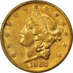 1864-S Liberty Head Double Eagle. EF-45 (PCGS).