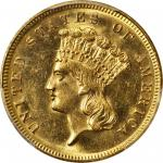 1868 Three-Dollar Gold Piece. MS-62 (PCGS).