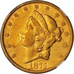 1875-CC Liberty Head Double Eagle. AU-50 (NGC). CAC.