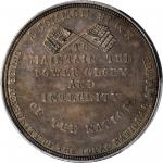 Undated (ca. 1861) Loyal National League medal. HK-874. Rarity-6. Silver. 35 mm. MS-63 (PCGS).