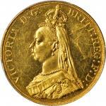 1887年英国5英镑金币。