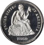 1860 Liberty Seated Dime. Proof-65 Cameo (PCGS). CAC.