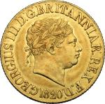 World Coins, Great Britain.  George III (1760-1820). Sovereign 1820. Fr. 371 优美