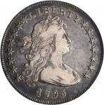 1795 Draped Bust Silver Dollar. BB-51, B-14. Rarity-2. Off-Center Bust. VF-30 (PCGS).