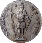 1788 Massachusetts Cent. Ryder 12-M, W-6350. Rarity-4-. Stout Indian, Period After MASSACHUSETTS. VF