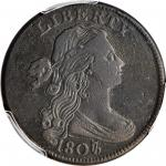 1807/6 Draped Bust Cent. S-272. Rarity-5+. Small 7, Blunt 1. VF Details--Environmental Damage (PCGS)