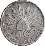 MEXICO. 8 Reales, 1861-Pi PS. San Luis Potosi Mint. PCGS Genuine--Cleaned, AU Details Gold Shield.