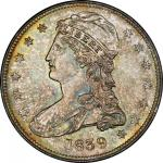 1839 Capped Bust Half Dollar. Graham Reiver-5. Rarity-2. HALF DOL. Mint State-66 (PCGS).