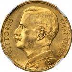 ITALY. 50 Lire, 1912-R. NGC MS-63.