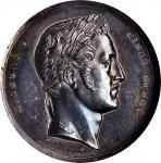 RUSSIA. Nicholas I Royal Visit to Prague Silver Medal, 1835. NGC MS-62.