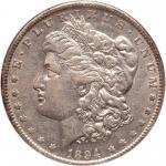 1894-O Morgan Dollar. NGC AU50
