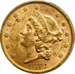 1873 Liberty Head Double Eagle. Close 3. MS-62 (PCGS).