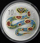 2001年辛巳(蛇)年生肖纪念彩色银币1盎司 完未流通