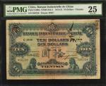 1914-21年中法实业银行拾圆。 (t) CHINA--FOREIGN BANKS.  Banque Industrielle de Chine. 10 Dollars, 1914-21. P-S4