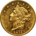 1875-CC Liberty Head Double Eagle. MS-60 (PCGS).